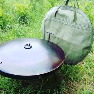 Сковорода из диска бороны 40см с крышкой в комплекте