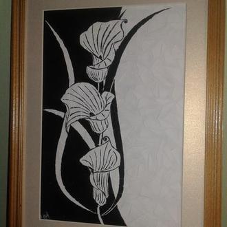 Картина Калли (black)
