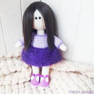 Кукла тильда вязаная