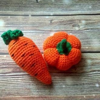 Вязаные овощи, фрукты