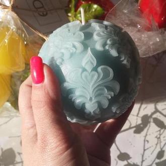 Свеча голубая в стиле Прованс ароматизированная