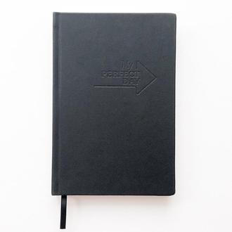 Блокнот Notebook Active My perfect day Красное на чёрном А5 недатированный на год