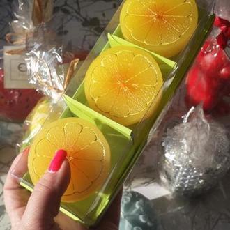 Набор свечей лимоны 3шт