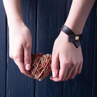 Кожаный браслет LUY N.7 цвет коричневый. Браслет из натуральной кожи