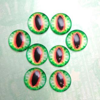Глаза-кабошоны 14 мм №38