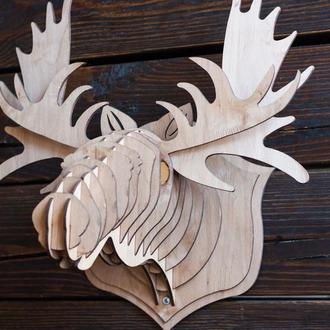 Голова лося декор стен, 3d скульптура, настенное украшение