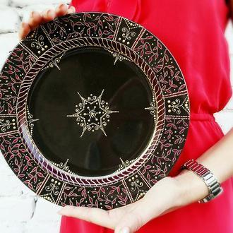 Роскошная декоративная тарелка