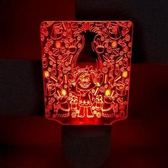 Ночник Розочка Тролли, светильник, LED лампа, игрушка для девочки на день рождения, интерьер детской