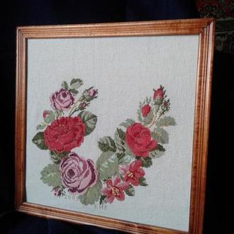 """Картина крестом вышитая """"Розы"""""""