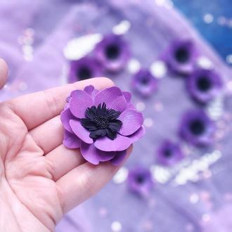 Набор цветов (анемоны) для скрапбукинга и декора