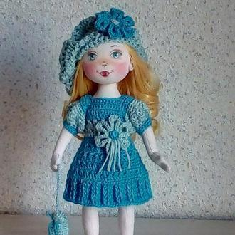 текстильная, игровая кукла Марта.