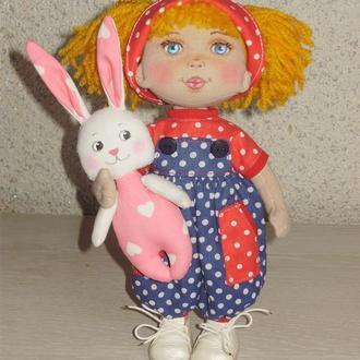 текстильная,игровая кукла Ася.