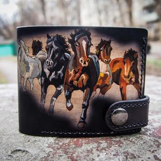Кожаный кошелек Табун