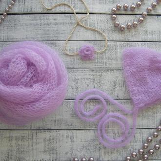 Обмотка и шапочка для фотосессии новорожденных