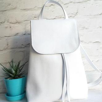 Рюкзак из натуральной кожи. Цвет белый