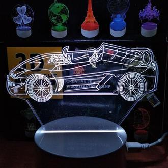 Ночник 3Д Автомобиль 2