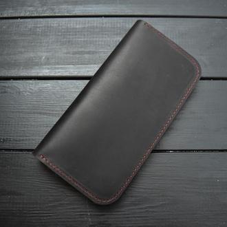 """Кожаный кошелёк """"Мони"""" двухцветный"""