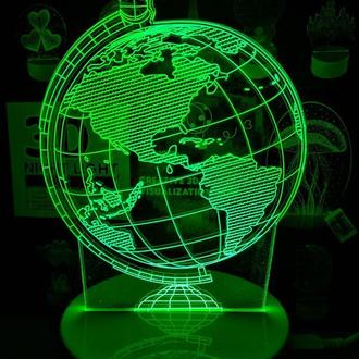 Ночник 3Д Глобус