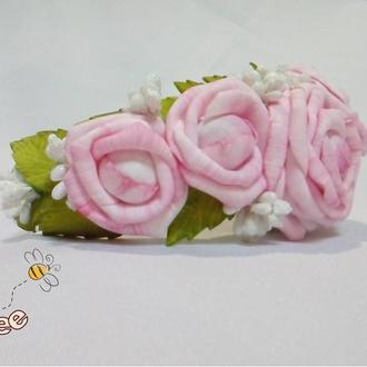 Обруч нежный розовый