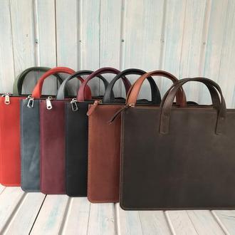 Кожаная сумка/переноска для ноутбука