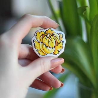 Брошка квітка
