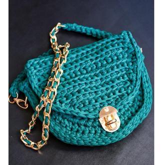 Женская сумка котомка изумруд, Стильная женская сумка через плечо, подарок для женщин и девушек