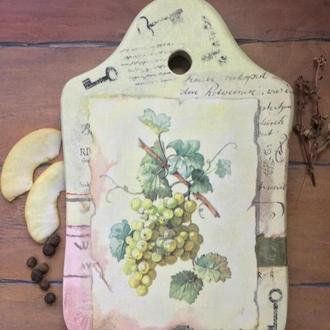 """Кухонная доска """"Гроздь винограда"""""""