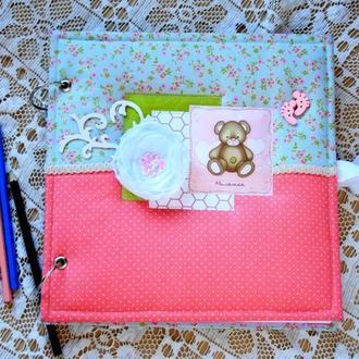 Детский фотоальбом с чистыми листами скрапальбом для девочки альбом для творчества фотоальбом