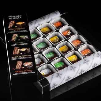PASTELLA Колекція (16 шт): шоколадно-горіхова колекція цукерок.