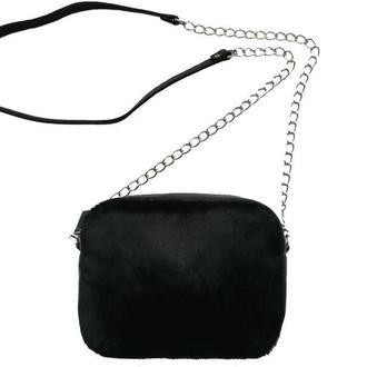 Женская кожаная сумка с натуральным мехом