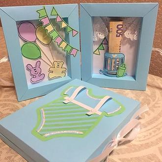 Коробочка-конверт для денег (для малыша)