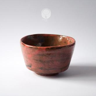 "Work no. 248W — chawan ""Sunset Clouds"", tea bowl in japanese style"