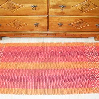 Коврик дорожка прямоугольный тканный безворсовый натуральный из джута и шерсти (159*60)