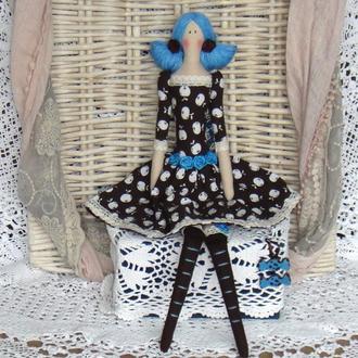 Кукла в стиле Тильда  Жанет (Шоколадная фея) 48см