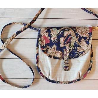 Кантри-тканевая женская сумочка