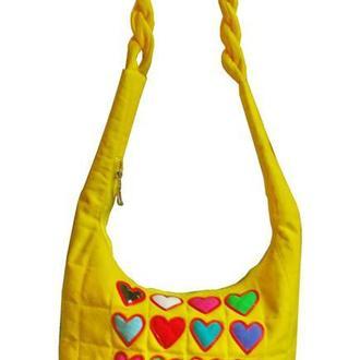 Love -летняя тканевая сумка.