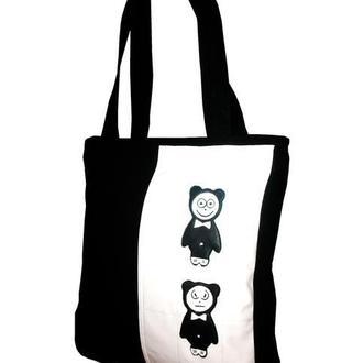 Панда- тканевая молодежная сумка.