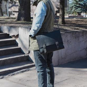 Стильная мужская сумка крейзи Хорс (кожаная)