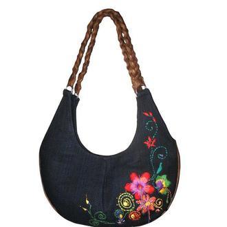 Шарлин - тканевая сумка с вышивкой.