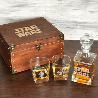 Подарунковий набір для алкоголю з персональної гравіюванням