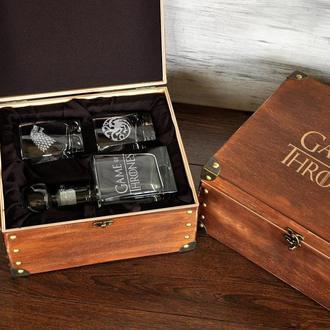 Подарунок для любителів Гри Престолів, скляний графін і стакани для віскі