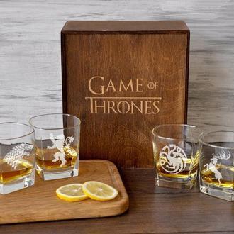 Скляний набір для віскі з гравіруванням «Гра Престолів»