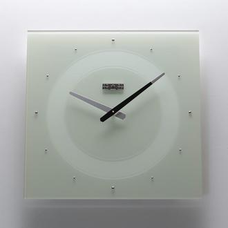 Часы настенные из стекла Crystal, белые