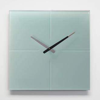 Часы настенные из стекла Line, белые