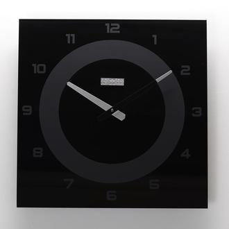 Часы настенные из стекла Black Number