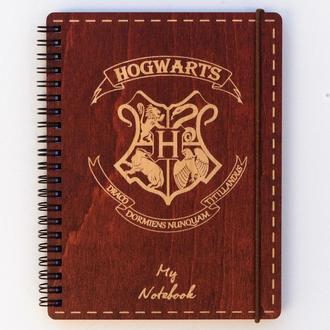 Блокнот с деревянной обложкой Hogwarts, А5