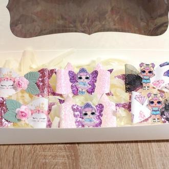 Набор украшений для девочки в розовом цвете в подарокчной упаковке