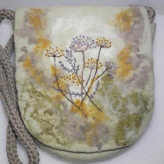 Валяная сумка из шерсти