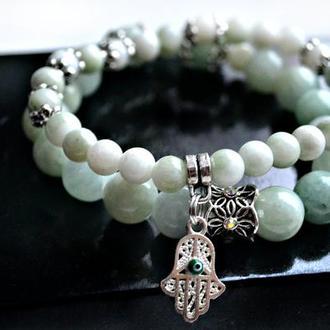 комплект браслетов из Нефрита