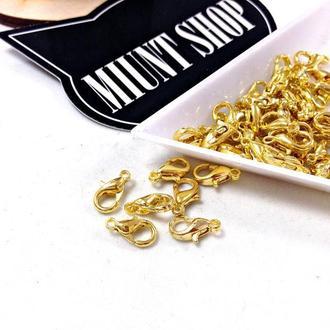 Карабин застежка золото 10 мм